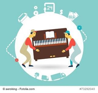 Klaviertransport transportieren mit Profis