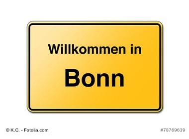 Willkommen in Bonn Schild