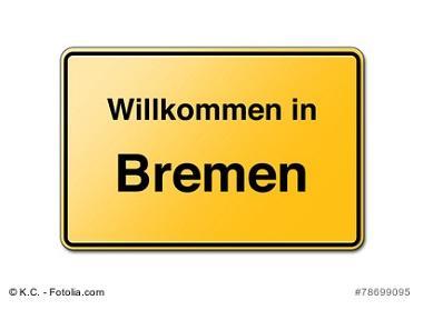 Willkommen in Bremen Schild