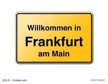 Frankfurt Willkommensschild
