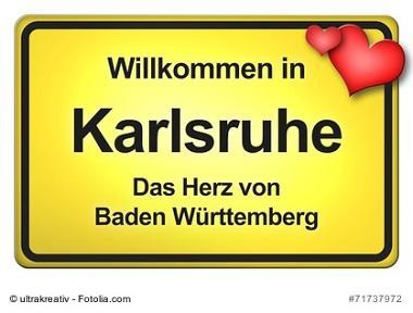 Karlsruhe, Willkommensschild