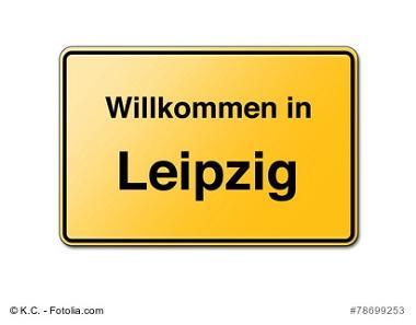 Leipzig Schild Willkommen
