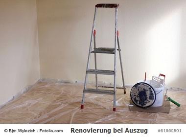 Renovierung bei Auszug