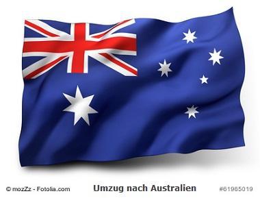 Umzug nach Australien