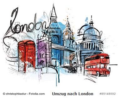 Umzug nach London