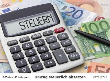 Umzugskosten Steuer absetzen